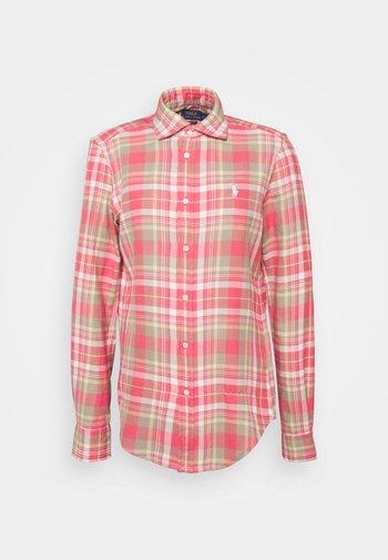 GEORGIA LONG SLEEVE BUTTON FRONT - Skjorte - red/white multi