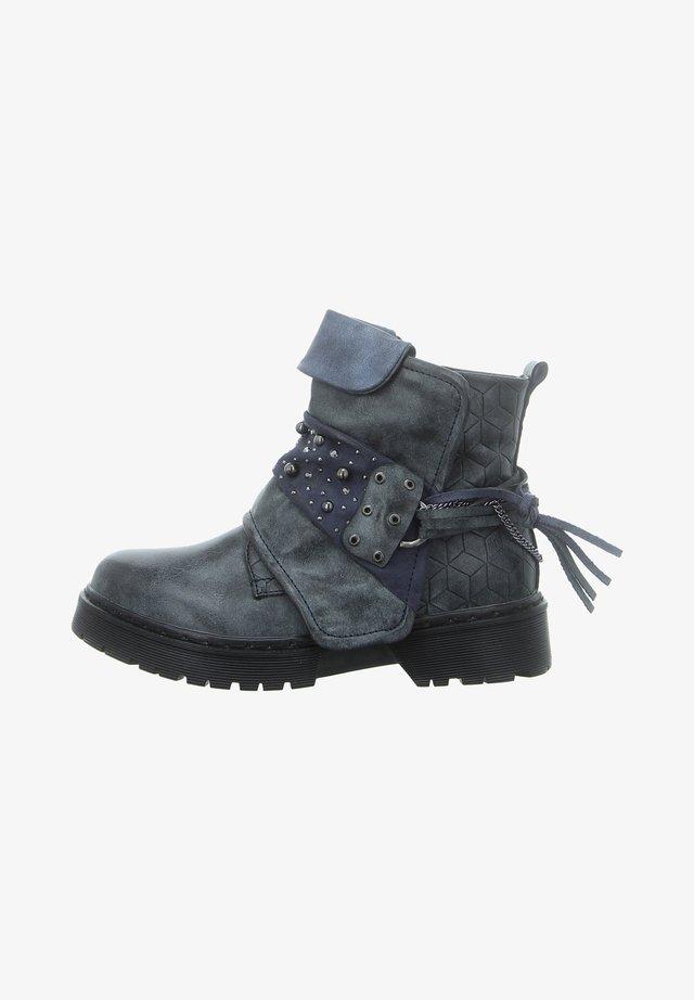Cowboy/biker ankle boot - antik black
