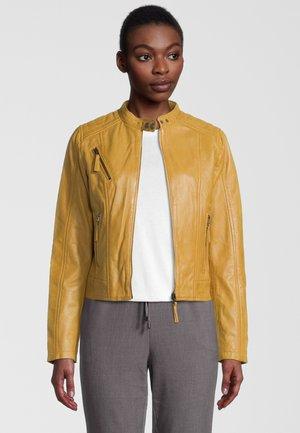 MANON - Leren jas - yellow
