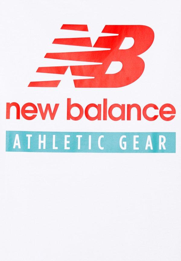 New Balance ESSENTIALS LOGO TEE - T-shirt z nadrukiem - white/biały Odzież Męska GWRC