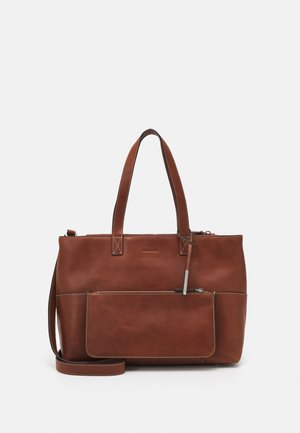 ANNIKA - Tote bag - authentic cognac