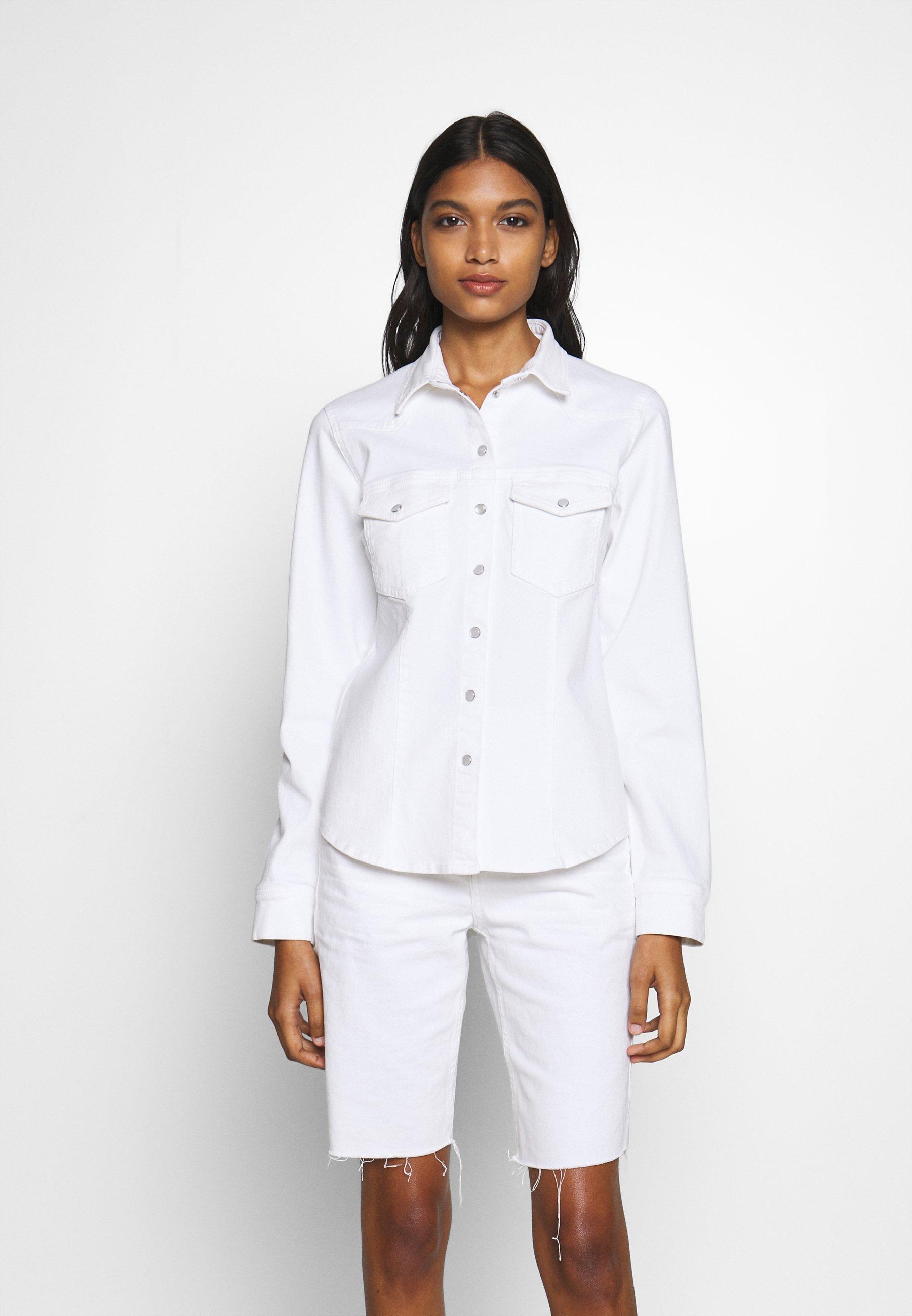 White Astrid  Gestuz  Dongeriskjorte - Dameklær er billig