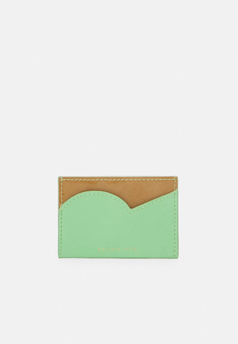 Rejina Pyo - CARD HOLDER - Wallet - mint green/patent brown