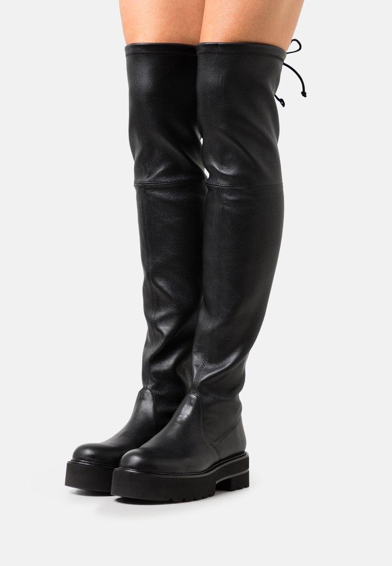 Stuart Weitzman - LOWLAND ULTRALIFT OVER THE KNEE BOOT - Over-the-knee boots - black