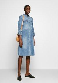 Cream - ROSITA DRESS - Denim dress - light blue denim - 1