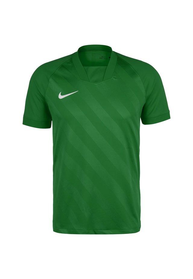 CHALLENGE III FUSSBALLTRIKOT HERREN - T-shirt z nadrukiem - pine green / pine green / white