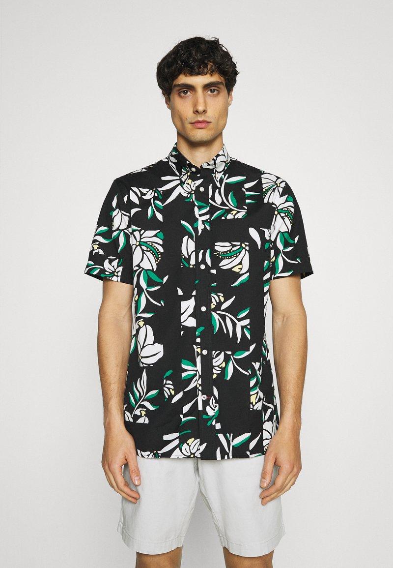 Tommy Hilfiger - PATCHWORK FLORAL PRINT - Skjorta - black/ivory/multi