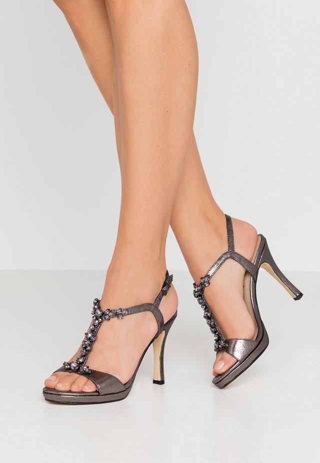 Sandalen met hoge hak - pewter