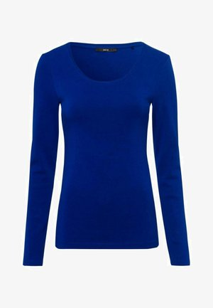 RUNDHALSAUSCHNITT - Long sleeved top - blue