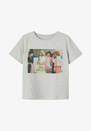 GREASE - T-shirt print - light grey melange