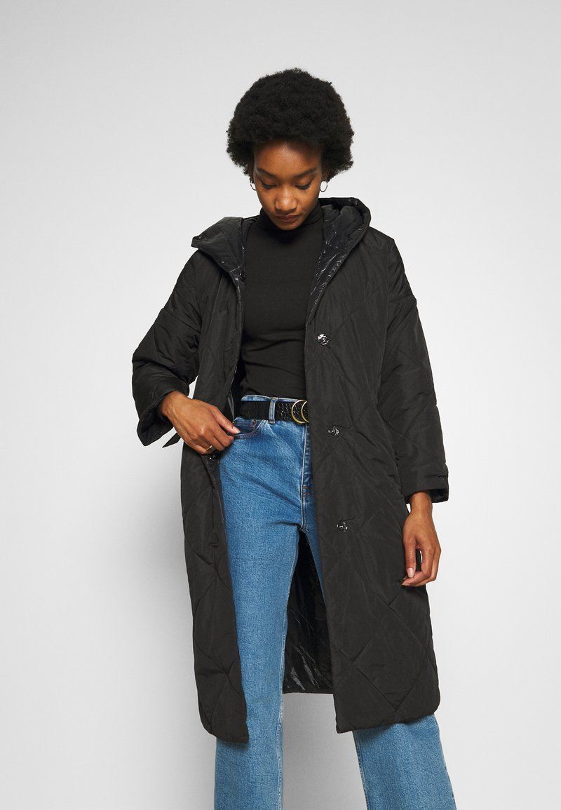 comma - Classic coat - black