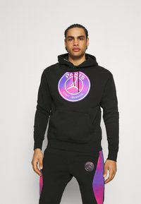 Nike Performance - JORDAN PARIS ST GERMAIN HOODIE - Club wear - black - 0