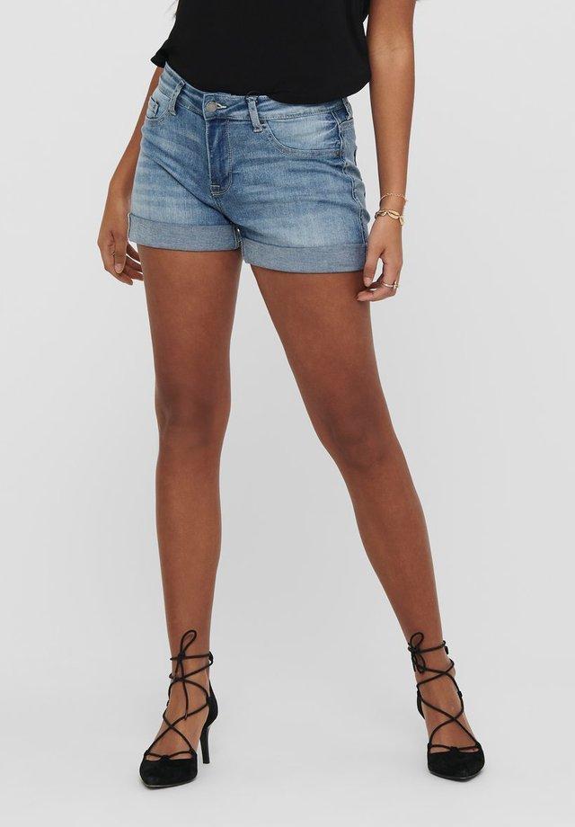 LIFE - Shorts vaqueros - medium blue denim