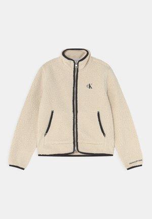 ZIP THROUGH - Fleece jacket - muslin