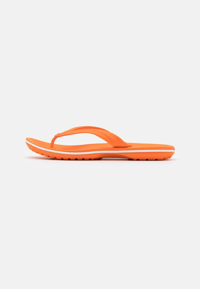 CROCBAND FLIP UNISEX - Pool shoes - orange/white