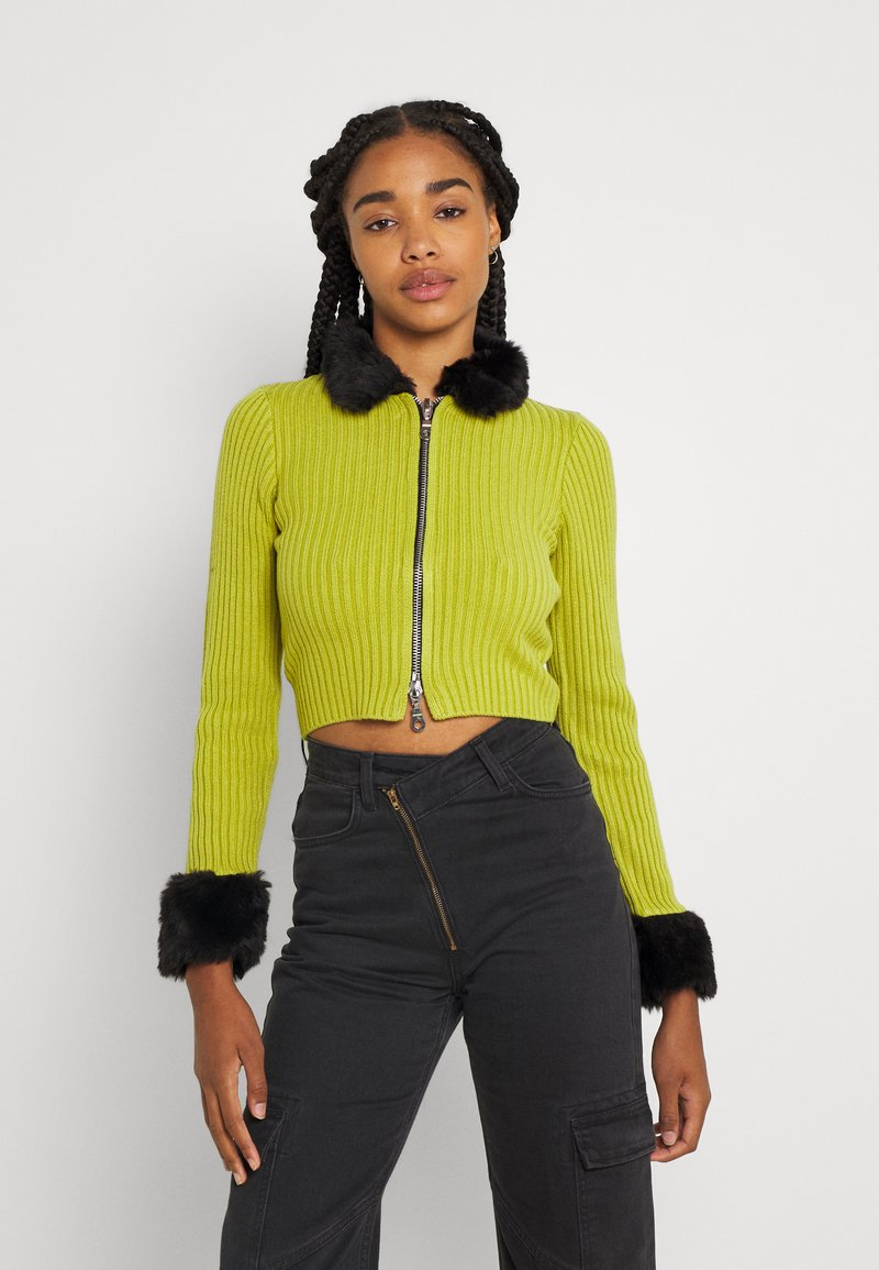 The Ragged Priest - LATE CARDI - Vest - lime/black