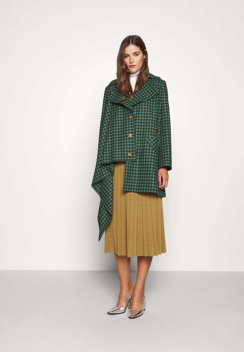 Vivienne Westwood - BLANKET COAT - Light jacket - green/plum