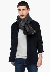 s.Oliver - Scarf - black check - 1