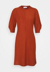 Closet - HIGH NECK A LINE DRESS - Day dress - rust - 0