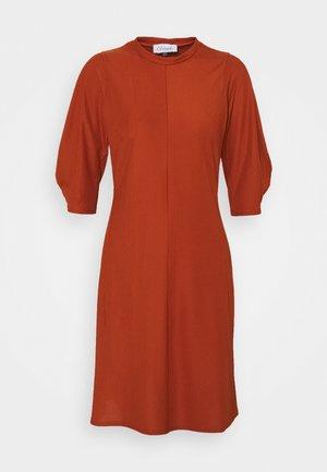 HIGH NECK A LINE DRESS - Jurk - rust