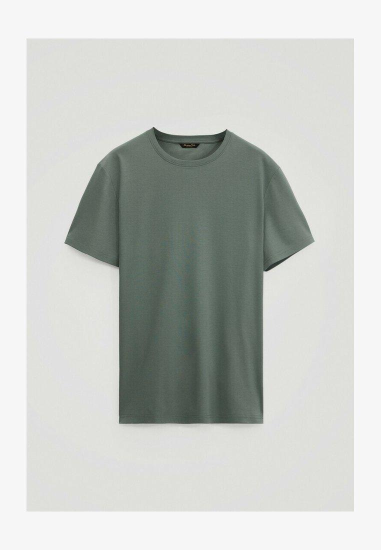 Massimo Dutti - Basic T-shirt - green