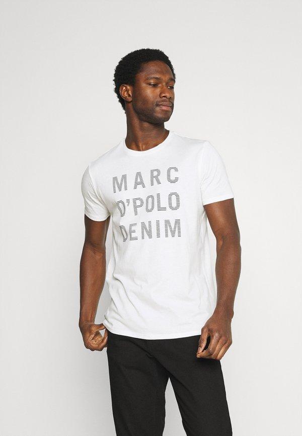 Marc O'Polo DENIM BIG LOGO PRINT 2 PACK - T-shirt z nadrukiem - scandinavian white/black/czarny Odzież Męska OKET
