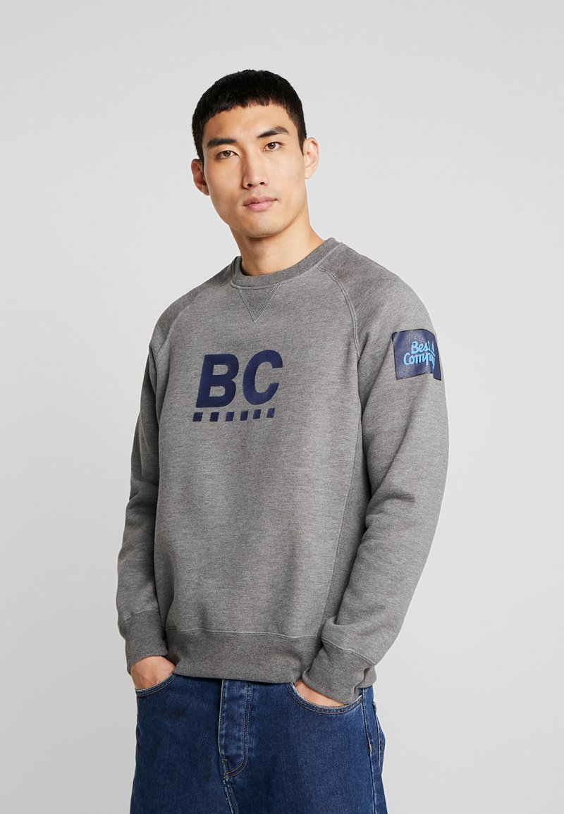 Best Company - CREW NECK RAGLAN - Sweater - grey melange
