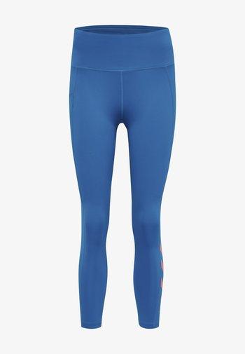 HMLMACI HIGH WAIST 7/8  - Leggings - mykonos blue