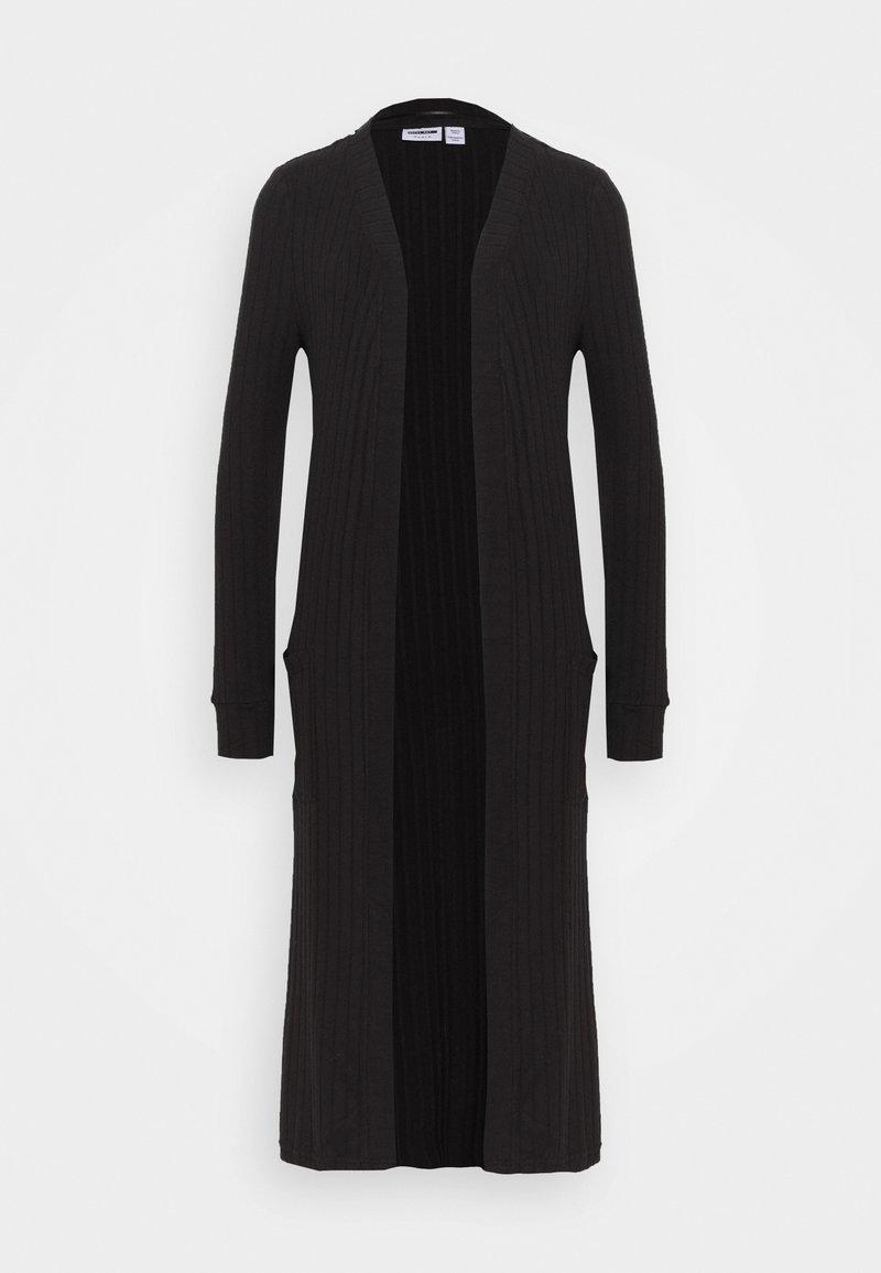 Noisy May Tall - NMINDIGO LONG CARDIGAN - Cardigan - black
