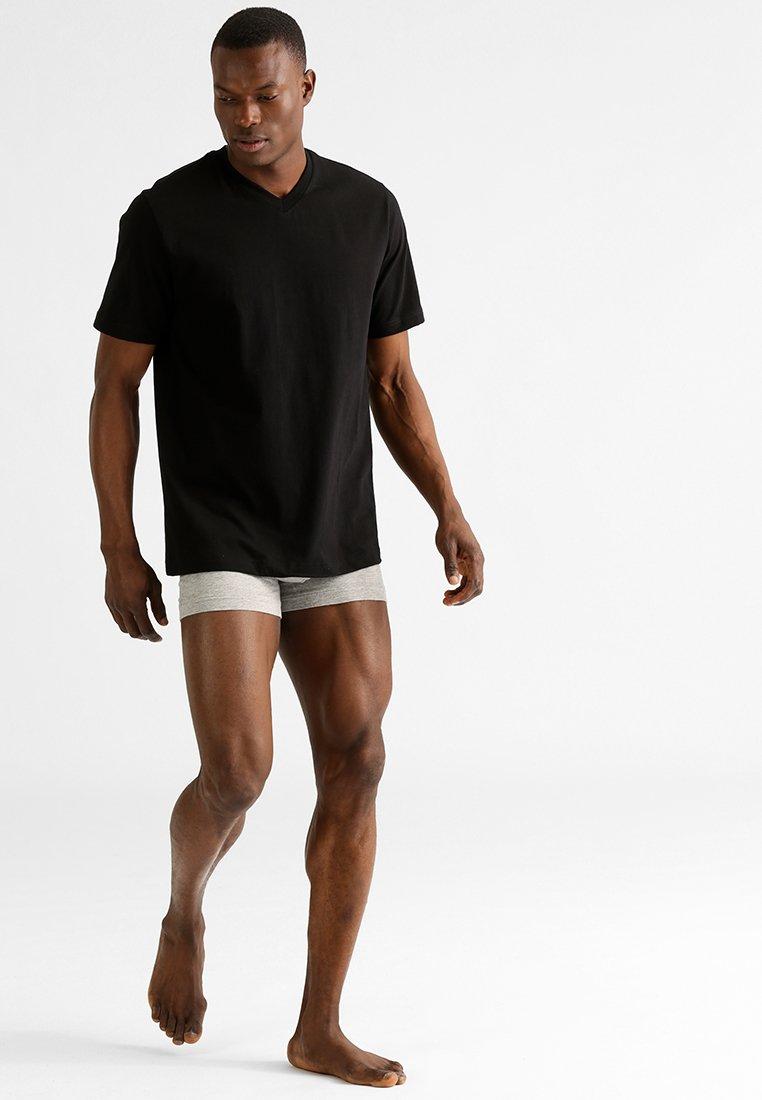 Schiesser - AMARICAN 2 PACK - Pyjamashirt - black