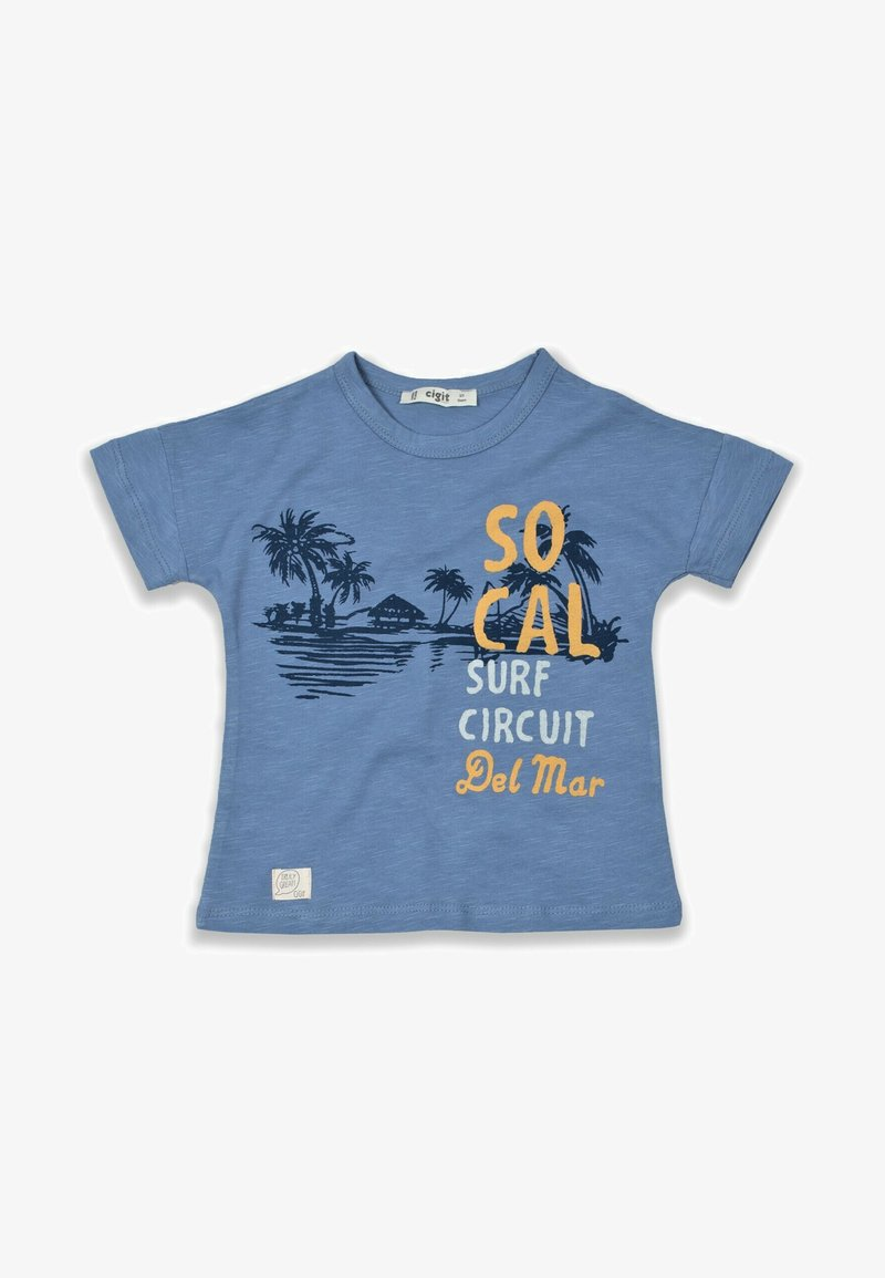 Cigit - SURF CIRCUIT - Print T-shirt - blue
