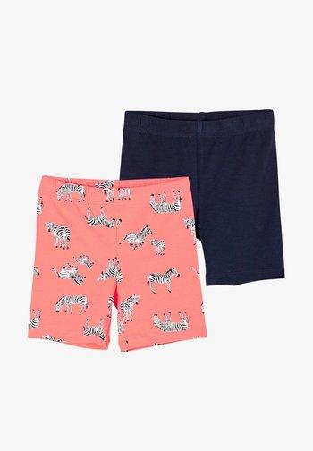 IM DOPPELPACK - Shorts - coral aop/navy
