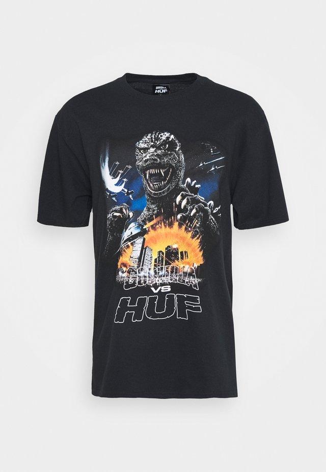 GODZILLA TOUR TEE - Camiseta estampada - black