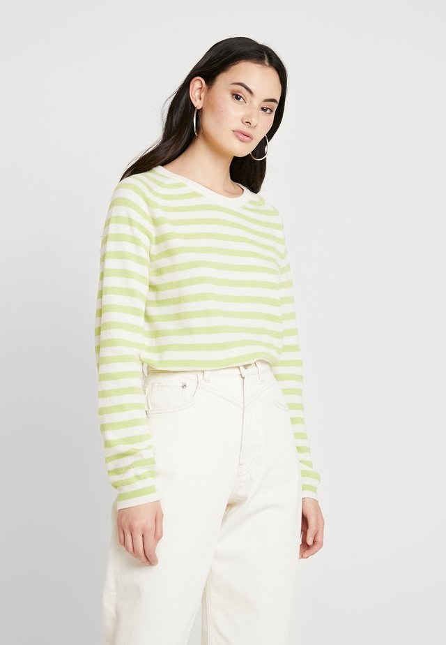 DREAM STRIPE KAXA - Jumper - ecru/lime