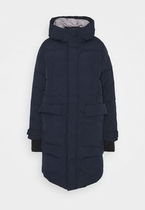 OUTERWEAR LONG - Down coat - dark blue