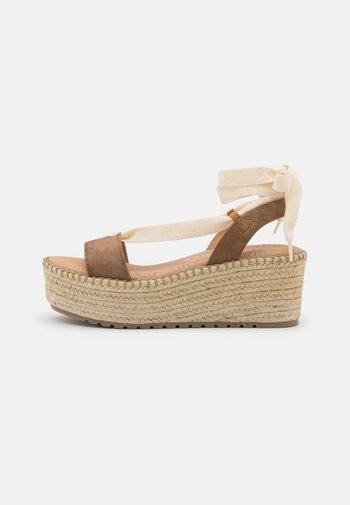 CLOUD - Platform sandals - taupe