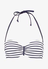 Venice Beach - WIRE BANDEAU - Bikini top - white/navy - 4