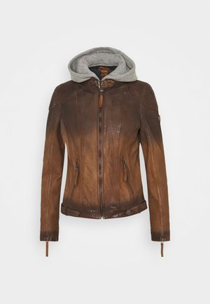 CASCHA LAMOV - Lederjacke - antic brown