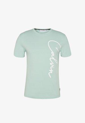 SUMMER SCRIPT LOGO - T-shirt con stampa - green