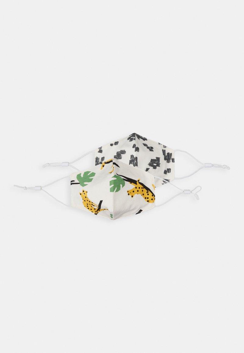 The Bonnie Mob - LEOPARD MONOCHROME FACEMASK UNISEX 2 PACK - Community mask - white