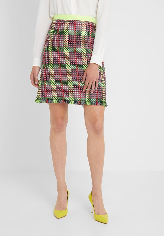RINGA - A-line skirt - neon yellow