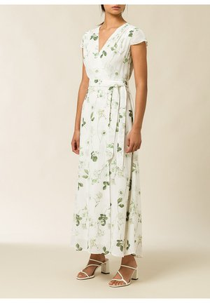 Vestido largo - aop - branche flowers snow white
