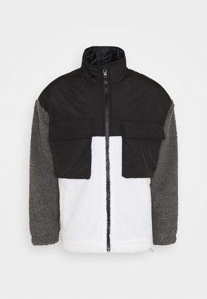 DOUBLE POCKET BORG ZIP THRU - Veste légère - grey