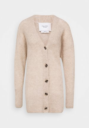 HEAVY CARDIGAN MID LENGTH HIGH CUFFS - Cardigan - latte macchiato melange