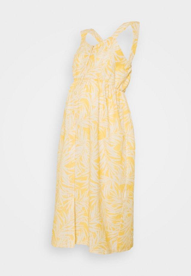 CATHY - Jersey dress - white/yellow
