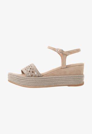 KISOME - Platform sandals - mist