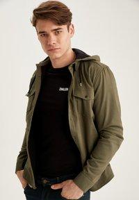 DeFacto - Denim jacket - khaki - 0