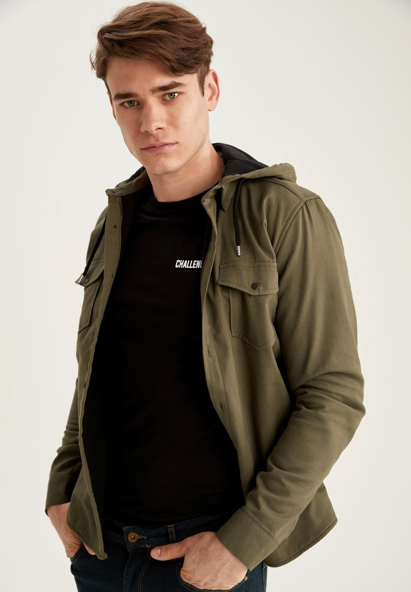 DeFacto - Denim jacket - khaki