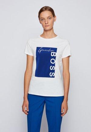 C_EWOMAN - Print T-shirt - white