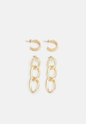 PCNILLY EARRINGS 2 PACK - Earrings - gold-coloured